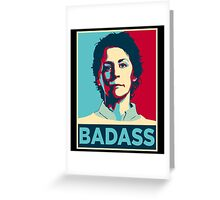 CAROL PELETIER BADASS (The Walking Dead) Greeting Card