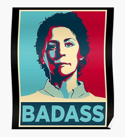 CAROL PELETIER BADASS (The Walking Dead) Poster