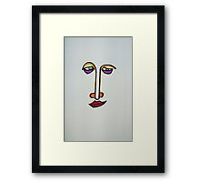 Feigning happiness Framed Print