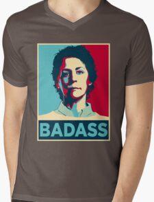 CAROL PELETIER BADASS (The Walking Dead) Mens V-Neck T-Shirt