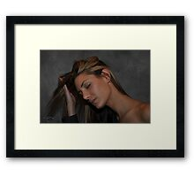""" Her quiet time "" Framed Print"