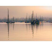 Tall Mast at Sunrise Photographic Print