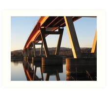 Mission bridge over the Fraser River Art Print