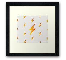 thunderbolt pattern Framed Print