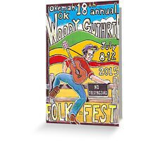 Ellis Paul's 2015 WoodyFest design Greeting Card