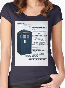 Doctor Who Timey Wimey Women's Fitted Scoop T-Shirt