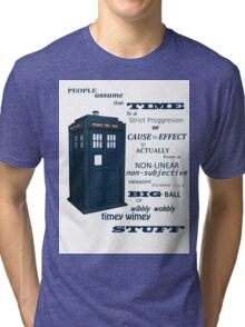 Doctor Who Timey Wimey Tri-blend T-Shirt