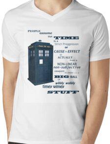 Doctor Who Timey Wimey Mens V-Neck T-Shirt