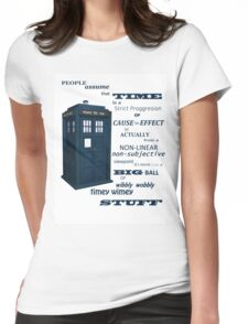 Doctor Who Timey Wimey Womens Fitted T-Shirt