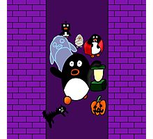 Halloween Penguins Photographic Print