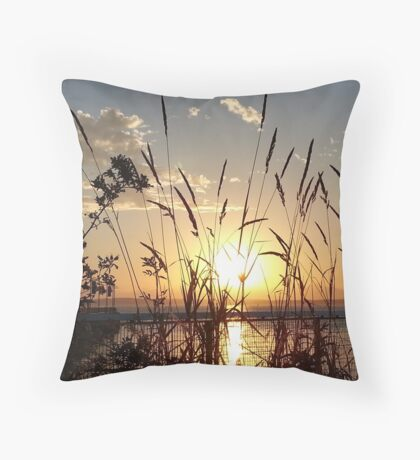 Sunset Seattle Throw Pillow
