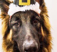 Christmas german shepherd Sticker