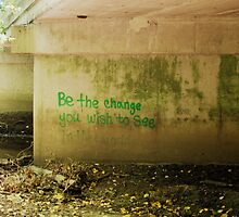 Be The Change Graffiti by Kitrina Arbuckle