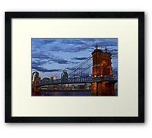Roebling Bridge Cincinnati Framed Print