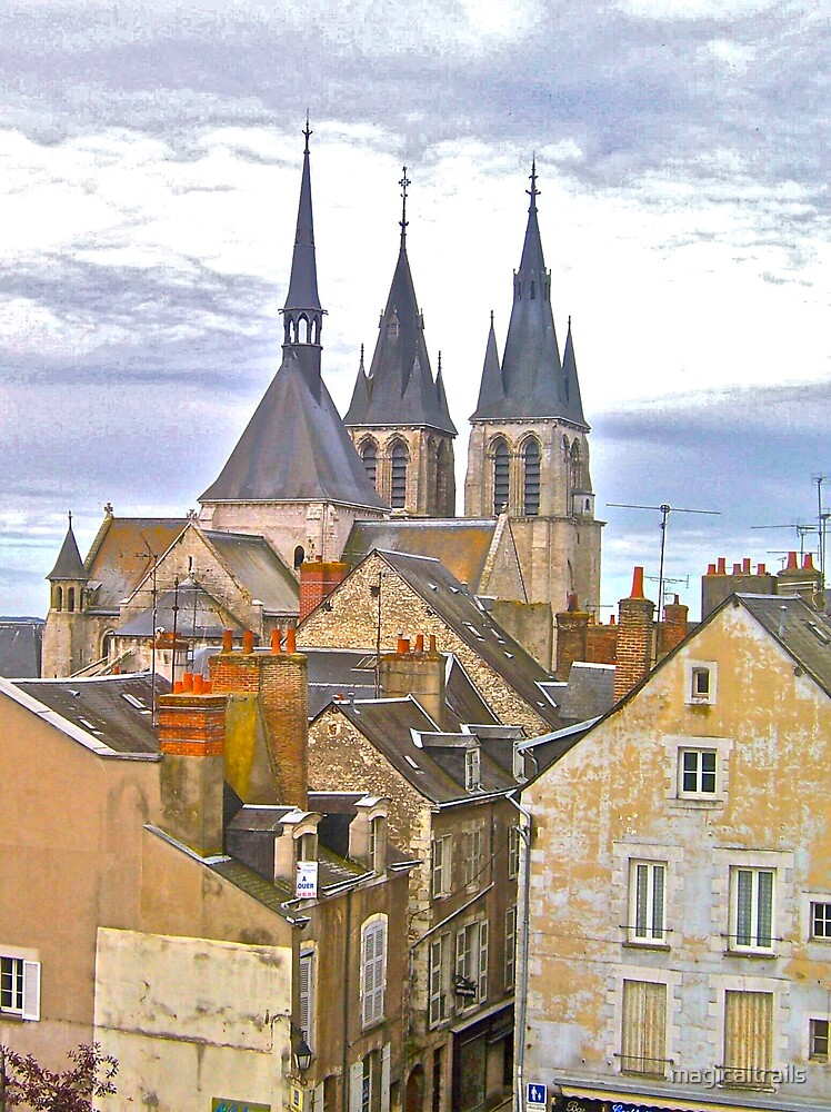 Roof tops in Blois by magicaltrails
