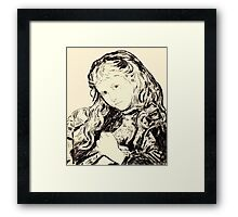 The Turtle Dove - after Sophie Gengembre Anderson. Framed Print