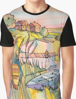 Sunset near Lake Graphic T-Shirt