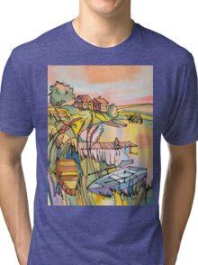 Sunset near Lake Tri-blend T-Shirt