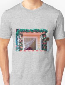 Window decorated in Christmas style  T-Shirt