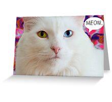 MEOW - greeting card Greeting Card