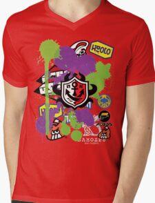 Splatoon Inspired: Ink Splat Brand Mens V-Neck T-Shirt