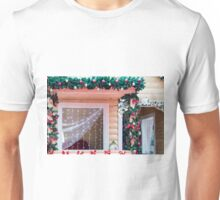 Window decorated in Christmas style Unisex T-Shirt