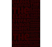 The Vampire Diaries word collage Photographic Print