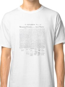 The Declaration of Independence Classic T-Shirt