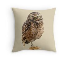 American Burrowing Owl Throw Pillow