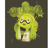 Splatoon Inspired: Squid or Kid Photographic Print
