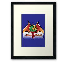 Christmas Pterodactyl Framed Print