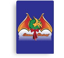 Christmas Pterodactyl Canvas Print