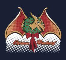 Christmas Pterodactyl One Piece - Short Sleeve