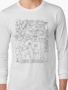 Characters of Bobs Burgers Long Sleeve T-Shirt