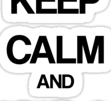 Keep Calm and Hug a Zombie Sticker