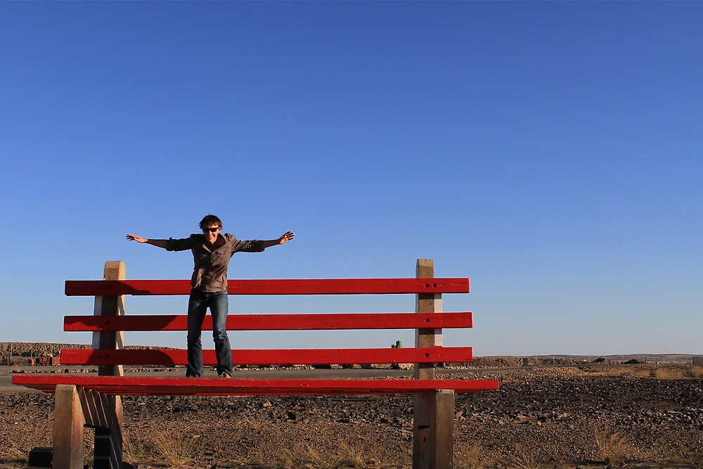 Mini-me on top of Broken Hill by styles