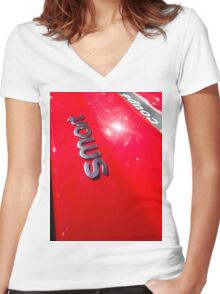 Smart Fortwo mhd Coupe Smart Logo [ Print & iPad / iPod / iPhone Case ] Women's Fitted V-Neck T-Shirt