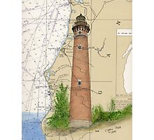 Little Sable Lighthouse MI Chart Cathy Peek Photographic Print