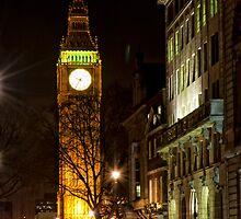 Big Ben at night by Magdalena Warmuz-Dent