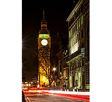 Big Ben at night Photographic Print