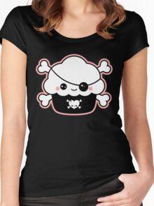 Cute Pirate Cupcake Women's Fitted Scoop T-Shirt