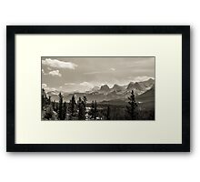 Rocky Mountains in Monochrome Framed Print