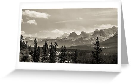 Rocky Mountains in Monochrome by alan shapiro