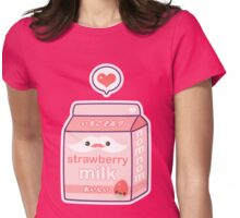 Cute Strawberry Milk Womens Fitted T-Shirt