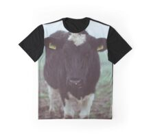 cow in foggy meadow Graphic T-Shirt
