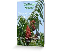 Challenge Winner - Green & Something Else Greeting Card