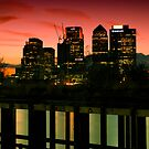 London skyline at sunset by Magdalena Warmuz-Dent