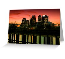 London skyline at sunset Greeting Card