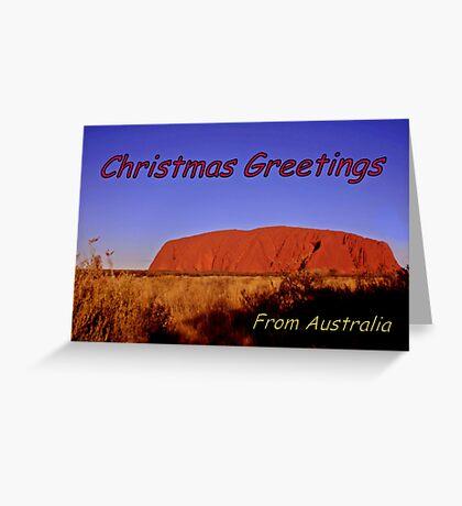 Christmas greetings from Australia Greeting Card