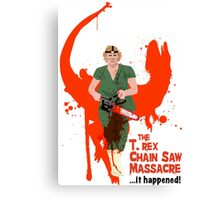 The T. rex Chainsaw Massacre Canvas Print